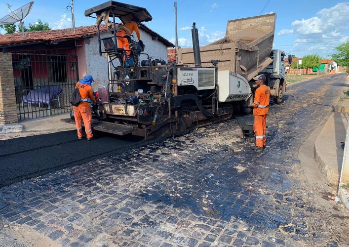 asfalto campo maior3 PRO Piauí realiza obras de mobilidade em Campo Maior