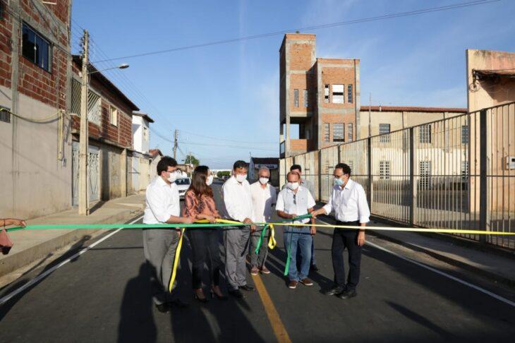 WhatsApp Image 2021 01 21 at 08.39.36 Wellington inaugura pavimentação de ruas em São João do Piauí