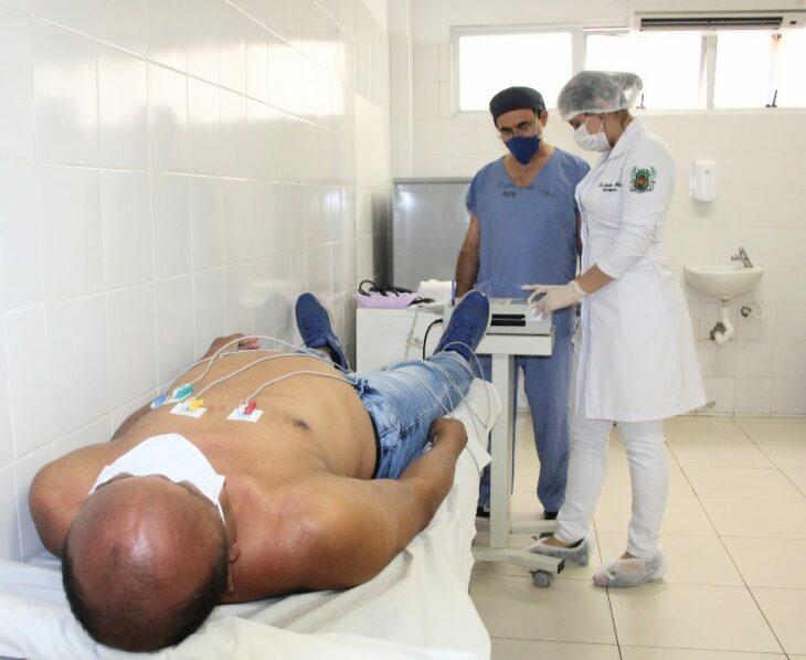 eletrocardiograma HGV recebeu 710 pacientes com suspeita de Covid-19 em 2020