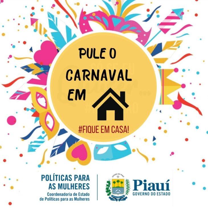 """2 Coordenadoria da Mulher lança a campanha de carnaval """"Fica em Casa"""""""