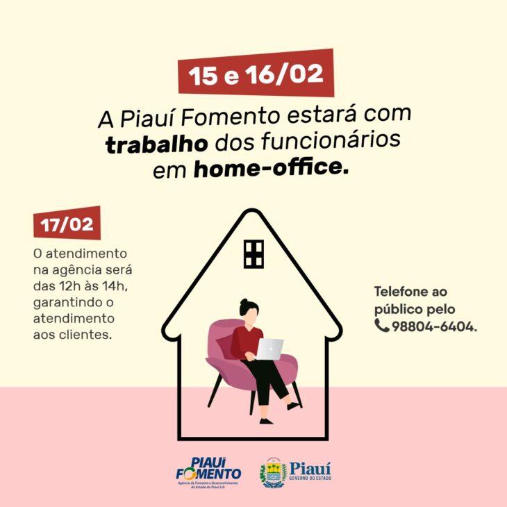 IMG 20210211 WA0058 Piauí Fomento funciona em home office nos dias 15 e 16
