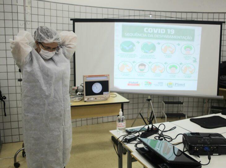 TREINAMENTO A HGV investe no treinamento dos profissionais que atuam na área covid
