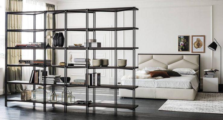 Le librerie acciaio e legno di cattelan piacentini for Mobili in metallo