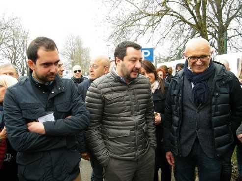 Salvini in visita all'ospedale di Villanova