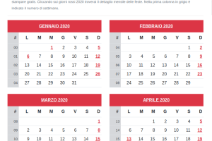 Anno Calendario 2020.Calendario 2020 I Principali Eventi Astronomici