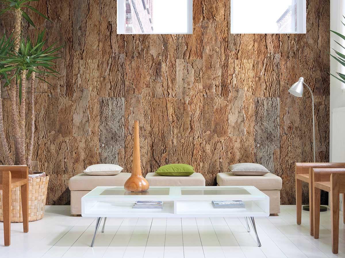 Soggiorno rivestimenti in pietra lecce. Pareti E Pavimenti In Sughero Idee E Non Solo