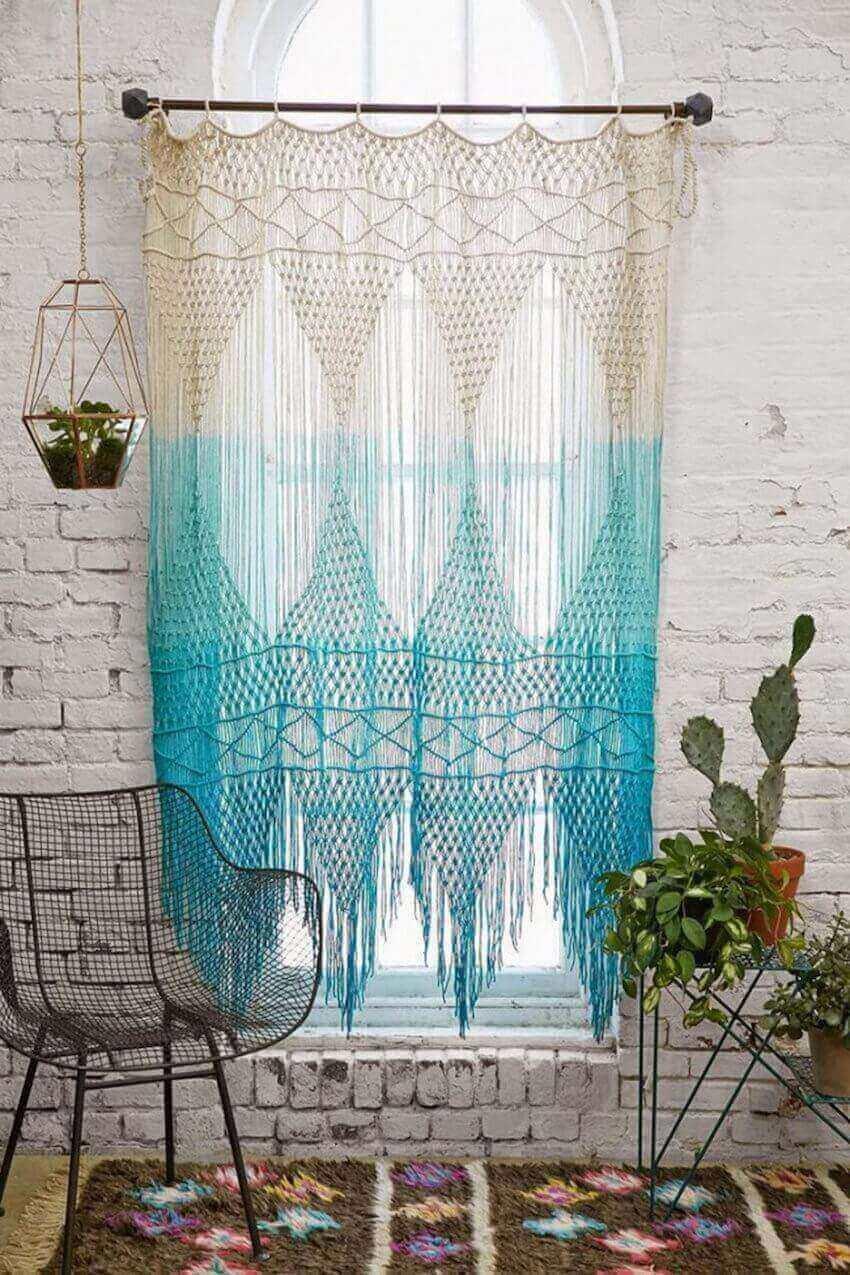 Cambiare il colore, il tessuto, il modello delle tende,. Tende Fai Da Te 20 Idee Fantasiose Per Abbellire Casa