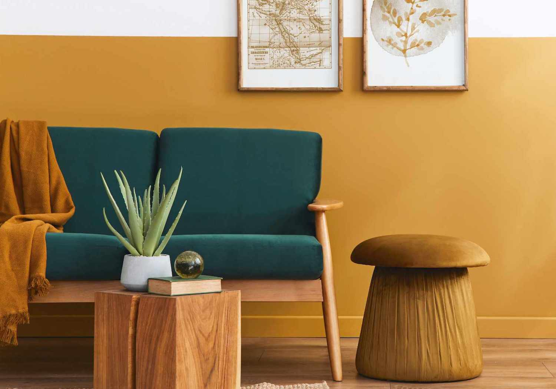 Idee per combinare i colori delle pareti · bianco: Color Curcuma Idee Per Le Pareti Di Casa