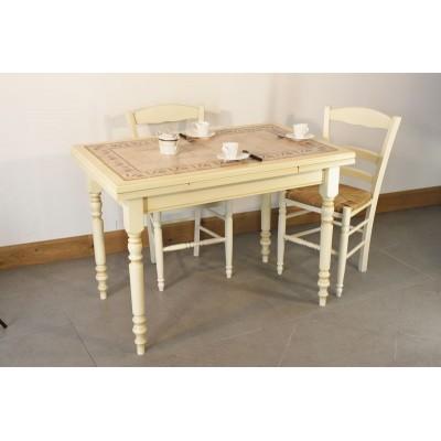 table menesbles 110x70 4 chaises vanille