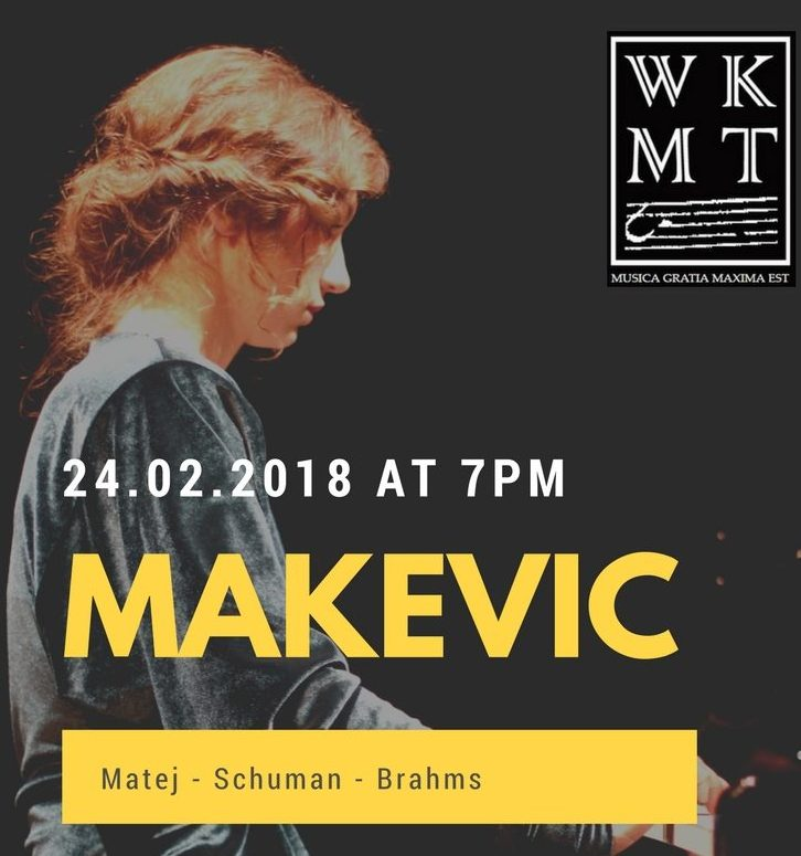 A new piano concert by WKMT in London Feb 2018 - Pianist AID