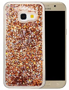 Coque Samsung Galaxy A3 2017 Silicone Nnopbeclik® Paillettes Briller Style Backcover Doux Soft Transparente Housse pour Samsung Galaxy A3 2017 Coque Silicone (4.7 Pouce) Antichoc Protection Antiglisse Anti-Scratch Etui «NOT FOR A3 2016/2015» – [Or]
