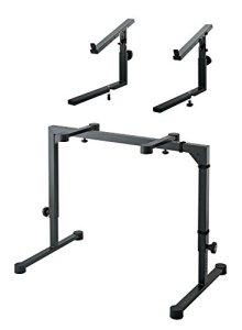 K & M 18810Keyboard Set de table inkl. 18113Embout (Trépied pour clavier, pied, étagère, support, hauteur de 600–1020mm, + élargissement de Étagère) Noir