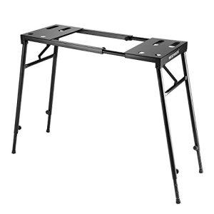 Neewer Piano Support Pliable de Clavier pour 61 Touches / 76 Touches / 88 Touches Clavier avec Hauteur Réglable de 65cm à 110cm et Longueur de 73cm à 113cm, Noir