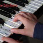 Outtybrave Autocollant pour Clavier de Piano 32 49 61 76 88 Touches – Apprendre la Musique débutants, Enfants Find Sight Reading System, PVC, Noir, 35 * 16MM/7 * 25MM