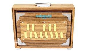 Shruti Box/ Surpeti, Maharaja Musicals, Teak Wood – 13 Drone Notes C-to-C Shruthi Indian Musical Instrument (PDI-ABC)