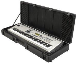 SKB 1SKB-R6020W Etui rotomoulé à roulettes pour Synthétiseur 88 Touches Noir