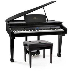 Piano à Queue Numérique GDP-100 et Tabouret de Piano par Gear4music