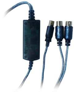 Yamaha USB/MIDI USB MIDI Bleu Adaptateur de câble–Adaptateur pour câble (USB, MIDI, Male Connector/MALE Connector, Bleu)