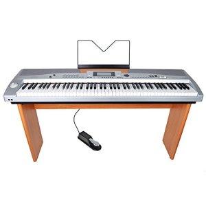 Axus Digital AXS2A Piano Numérique compact 88 Touches avec support Argenté