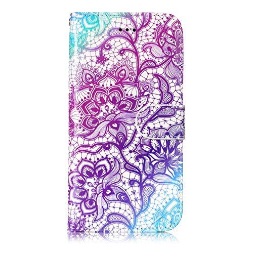 Étui portefeuille à rabat pour Samsung Galaxy avec support pliable pour cartes Étui avec support Samsung Galaxy S8 color two
