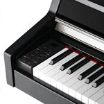 Kurzweil MP10 BP Piano numérique meuble Noir brillant