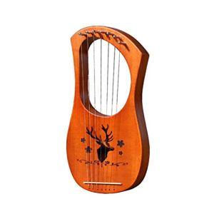 Yunhigh Lyra Harp Piano à Sept Cordes Petite Harpe en Bois Lerqin Liqin Instruments de Musique Grecques