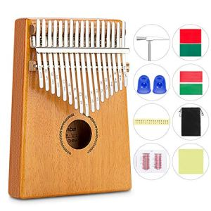 RenFox 17 Touches Mbira Thumb Piano Thumb Piano Kalimba Doigt en Bois Piano avec Accordeur Outil Et Tutorial One