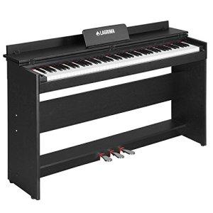 LAGRIMA Clavier de piano numérique 88 touches avec 3 pédales, adaptateur et minimalisme USB/MIDI