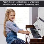 Autocollants pour clavier de piano 49/54/61/88 touches – Autocollants pour touches noires et blanches, avec des lettres colorées plus grandes et gras, transparents et amovibles.