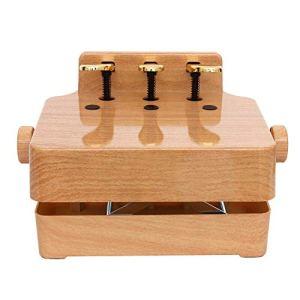 Banc d'extension de pédale de Piano Universal Enfants Lift Piano Pédale auxiliaire Booster Pédale for 2/3 pédales Upright Grand Piano électrique (Couleur : Wood, Taille : 38x28cm)