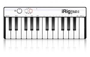 IK Multimedia iRig Keys Mini – Mini Contrôleur 25 Touches MIDI Universel pour Systèmes Android, iOS, PC et MAC, Noir/Blanc