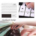 BRANDNEWS Autocollant Transparent de Clavier de Piano, Autocollant de Note de Piano électronique de Clavier électronique de 54 61 88 clés masterwork
