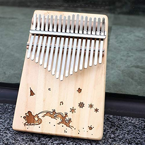 CHENTAOMAYAN Kalimba 17 Touches Thumb Piano à l'instruction d'étude et de Tune Hammer, Portable Mbira Sanza Afrique Bois Finger Piano (Color : NO 4)