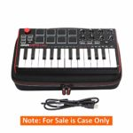 Case pour AKAI Professional MPK Mini MKII & MPK Mini Play & Akai Professional Fire Clavier Protective Travel Case (only case for sale)