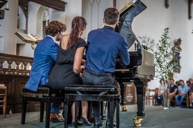 Pianowandeling Culemborg 2016 Daan Boertien Yang Yang Cai en Florian Verweij - slotconcert ©John Verhagen