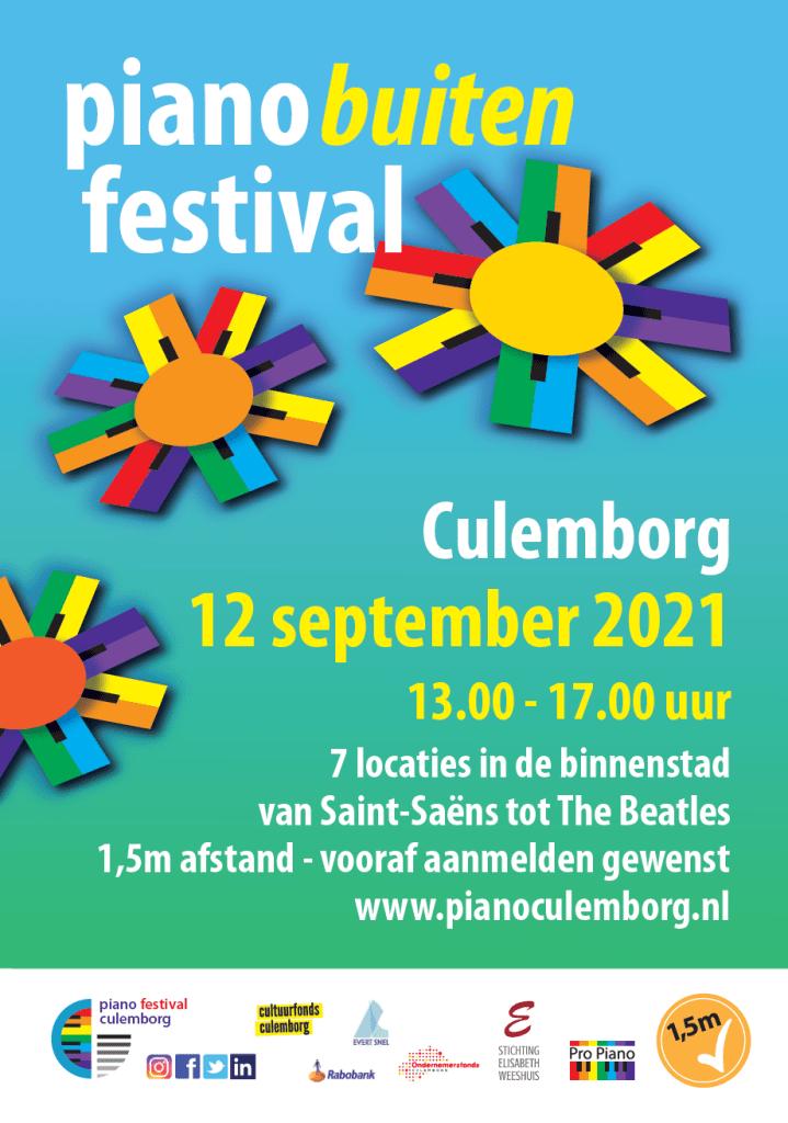 2021 Piano Buiten Festival Poster