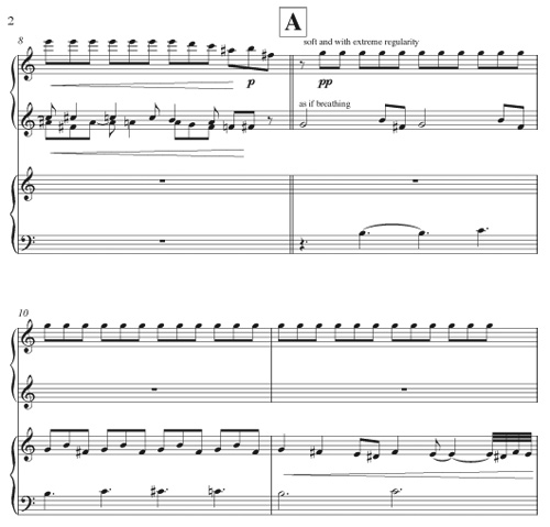 Amaranthinesque piano duet (page 2) by Chip Michael