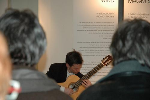 Robert Bekkers on guitar at Artonivo in Bruges Belgium