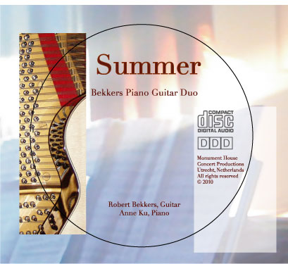 New CD of Bekkers Piano Guitar Duo
