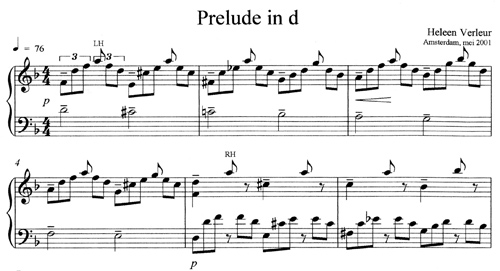 Prelude in d minor by Heleen Verleur