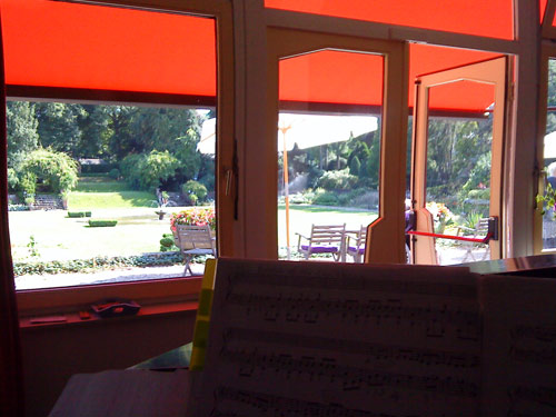 View from the Bluthner grand piano in Zeist
