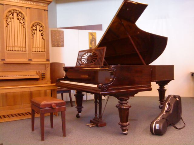 Piano guitar before a concert