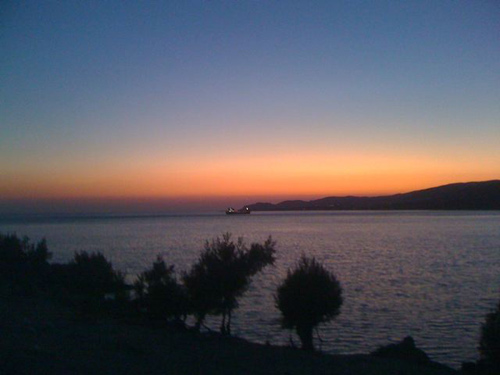 The last sunset in Paleochora, Crete, August 2009