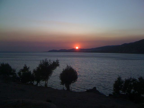 Sunset at Paleochora, Crete