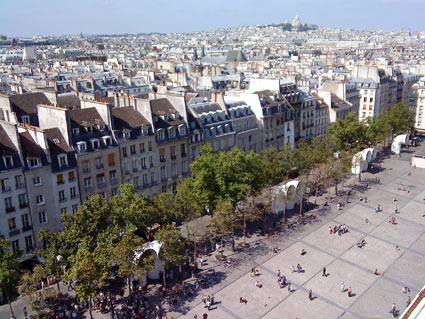 The view from the George Pompidou Centre in Paris