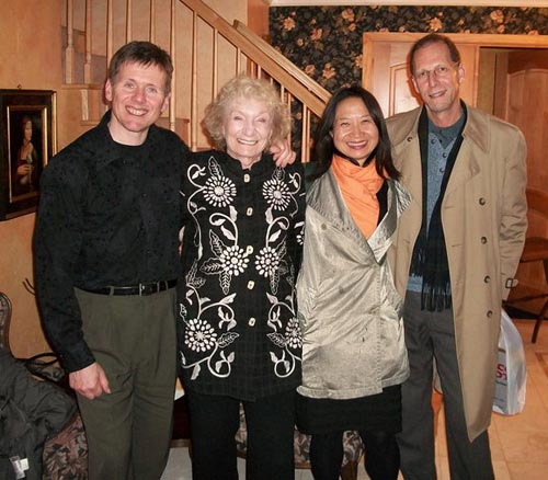 After the evening house concert in Carmichael, California