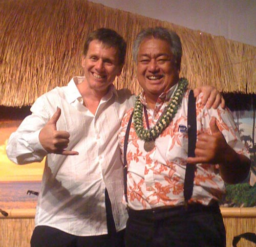 Robert Bekkers and George Kahumoku, Jr at Napili