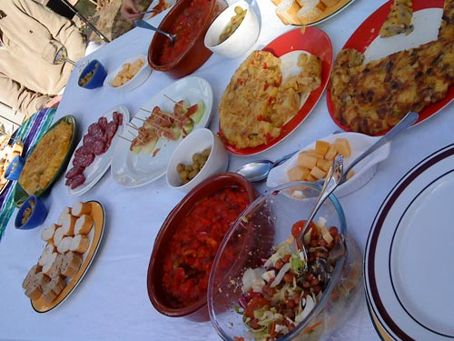 Traditional Andalucian dinner by Chef Alberto. Photo: Susan Raddatz