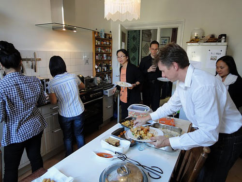 Vietnamese dinner by Chef Hong at the Monument House. Photo: Willem de Vriend