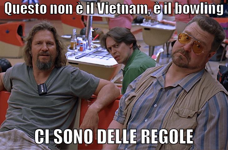 non è il vietnam, ci sono delle regole